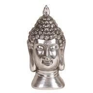 Silver Buddha Head 18.5cm