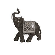Mirror Trunk Up Elephant 19cm