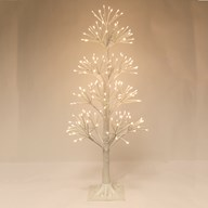 LED 190 Light White Birch Tree 90cm