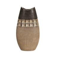 Bronze Ellipse Vase 28cm