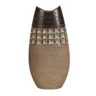 Bronze Ellipse Vase 35cm