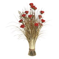 Rose Floral Bundle 70cm Red