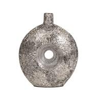 Grey Silver Eggshell Vase 31cm