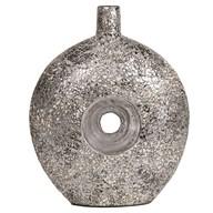 Grey Silver Eggshell Vase 38cm