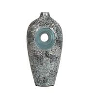 Blue Silver Eggshell Vase 41cm