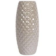 Grey Lustre Convex Vase 32cm
