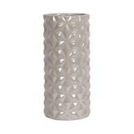 Grey Lustre Cylin Vase 24.5cm