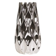 Silver Teardrop Vase 31cm