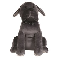 Dog Doorstop Grey 33cm