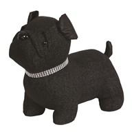 Glitter Pug Doorstop Black22cm