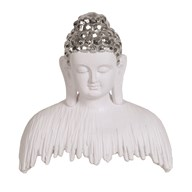 White Buddha Decor 23cm