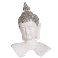 White Buddha Decor 32cm