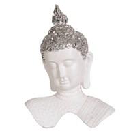 White Buddha Decor 32cm