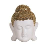 Whte Buddha Head 19cm