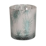 Frosted Tree Tealight Holder 12.5cm