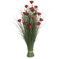 Grass Floral Bundle Red Rose 100cm