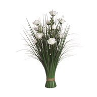 Grass Floral Bundle White Rose 70cm