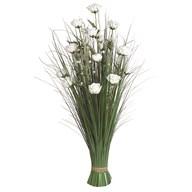 Grass Floral Bundle White Rose 100cm