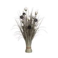 Floral Bundle Black and White Rose 70cm