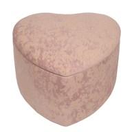 Heart Storage Pouffe 46cm Pk
