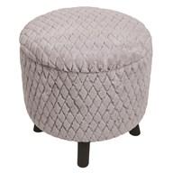 Faux Fur Storage Footstool50cm