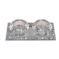 Double Tealight Holder 17x9cm