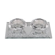 Double Tealight Holder17x9cm