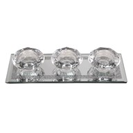 Triple Tealight Holder 25x9cm