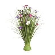 Grass Floral Bundle Pink and Purple Morning Glory 70cm