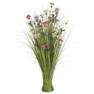 Grass Floral Bundle Pink and Purple Morning Glory 100cm