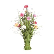 Grass Floral Bundle Mixed Carnation 70cm