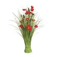 Grass Floral Bundle Red Poppy 70cm