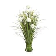 Grass Floral Bundle White Hydrangea 70cm
