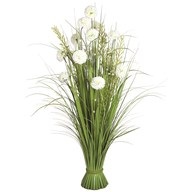Grass Floral Bundle White Hydrangea 100cm