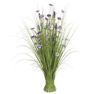 Grass Floral Bundle Purple Wild Flower 100cm