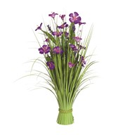 Grass Floral Bundle Purple Amaryllis 70cm