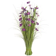 Grass Floral Bundle Purple Amaryllis 100cm