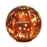 LED Xmas Ball Red 14.5cm