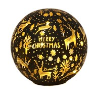 LED Xmas Ball Black 14.5cm