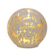 LED Xmas Ball White 11.5cm
