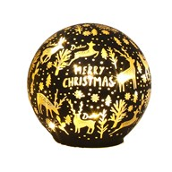 LED Xmas Ball Black 11.5cm