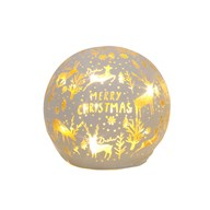 LED Xmas Ball White 9.5cm
