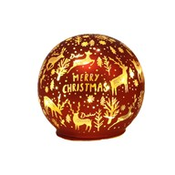 LED Xmas Ball Red 9.5cm