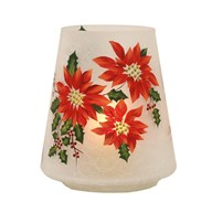 Poinsettia Candle Holder 22cm