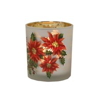 Poinsettia Tealight Holder10cm