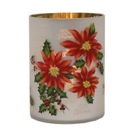 Poinsettia Candle Holder 20cm