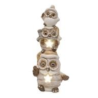 LED Owl Decoration 46.5cm