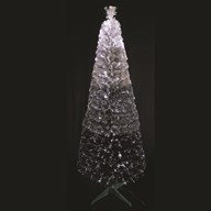 White and Black Gradient Fibre Optic Tree 180cm