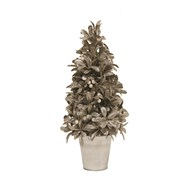 Leaf & Berry Tree in Pot Silver 41cm