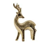 Ceramic Gold Reindeer 22cm